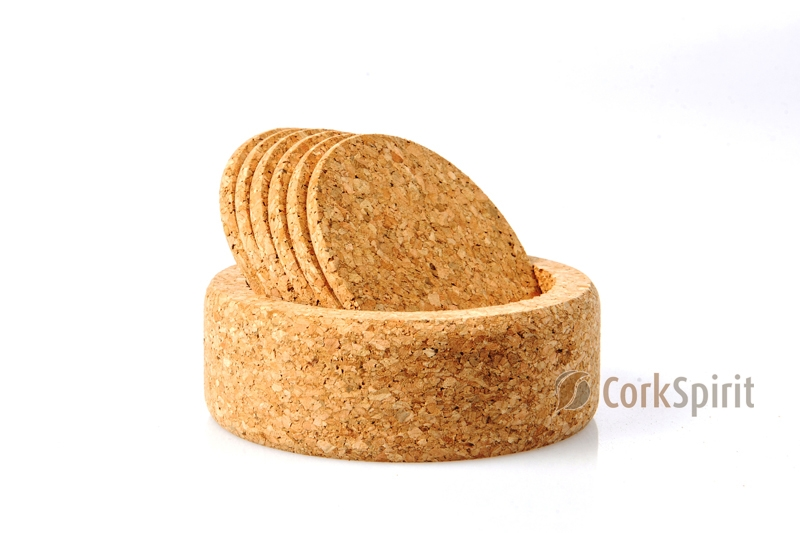 Round Cork Coasters with Round Box - Pack of 6