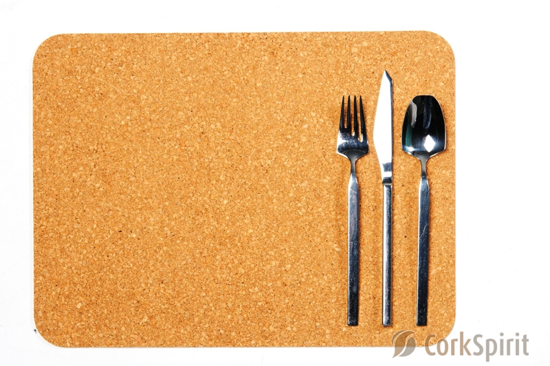 Co00120 Cork Table Mats Cork Placemats Blue Marble