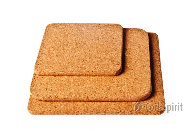 Square Cork Hot Pad / Square Cork Trivet / Square Hot Pot Stands