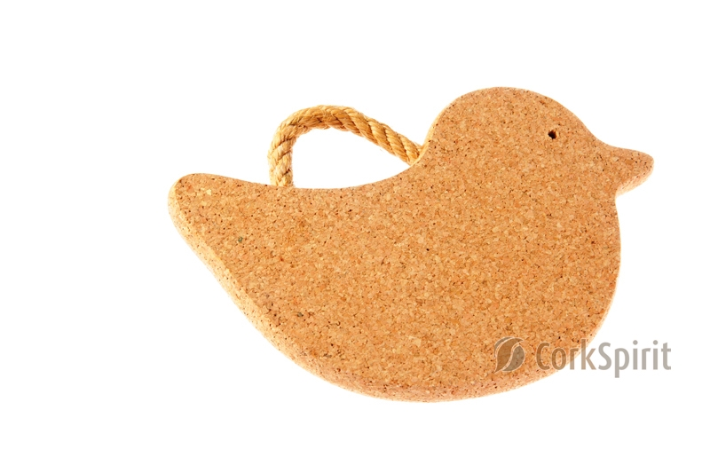 Cork Trivet with Rope / Hot Pot Stands / Tablemats - Duck