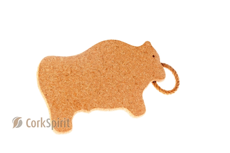 Cork Trivet with Rope / Hot Pot Stands / Tablemats - Bull