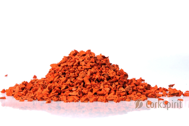 Orange Cork Grain Cork Powder Cork Dust Cork Granules