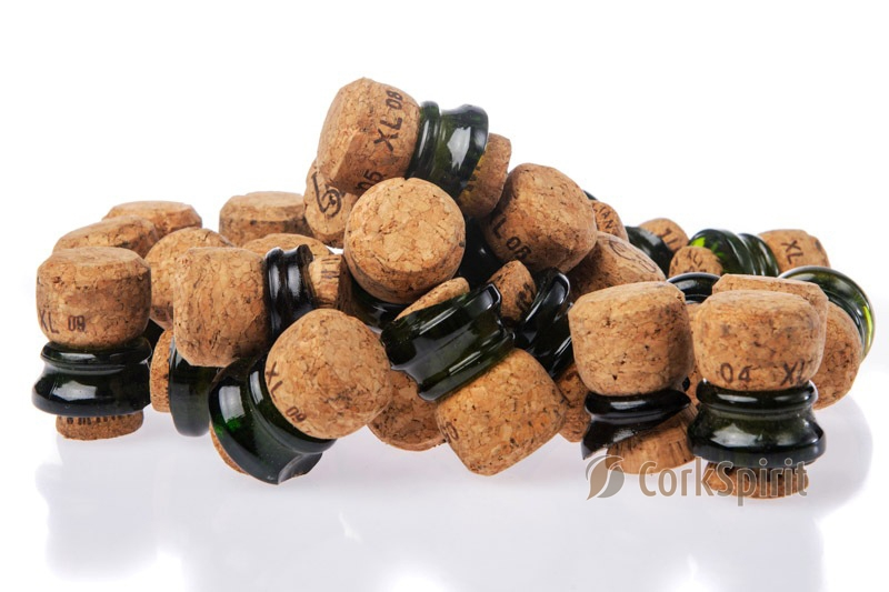 Used Champagne Corks with Glass Ring