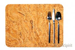 Cork Table Mats / Cork Placemats Natural Marble - Pack of 4