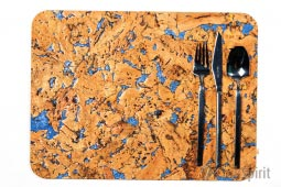 Cork Table Mats / Cork Placemats Blue Marble - Pack of 4