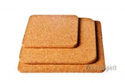 Square Cork Hot Pad / Square Cork Trivet / Square Hot Pot Stands