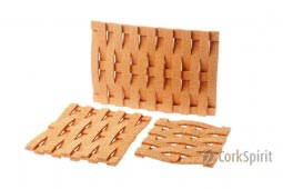 Cork Hot Pad Twist, Hot Pot Stands, Tablemats, Trivet