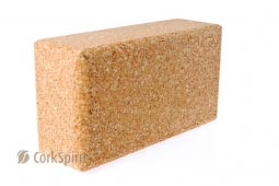 Natural Cork Yoga Block Brick 75 mm