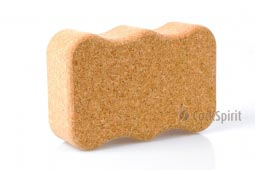 Natural Cork Yoga Block Brick Wave