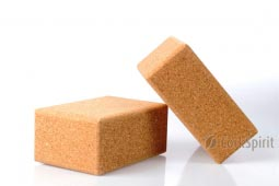 2 X Natural Cork Yoga Block Brick - Large