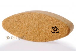 Natural Cork Yoga Block Brick Egg Oval with OM
