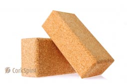 2 X Natural Cork Yoga Block Brick 75 mm