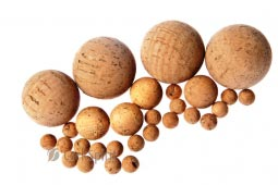 Natural Cork Balls - 9mm size
