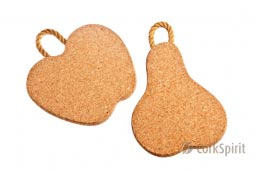 Cork Trivet with Rope / Hot Pot Stands / Tablemats - Pear