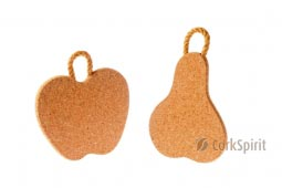 Cork Trivet with Rope / Hot Pot Stands / Tablemats - Apple