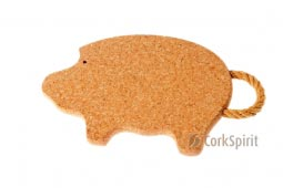Cork Trivet with Rope / Hot Pot Stands / Tablemats - Pig