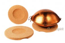 Round Cork Hot Pad for Cataplana or Wok