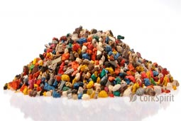Multicolor Cork Grain Cork Powder Cork Dust Cork Granules