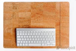 Luxury Hand Made Cork Desk Pad / Mat - Natural