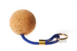 Floating Cork Key Ring / Floating Cork Key Chain - 50 mm cork ball